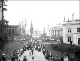 Nome Circle, Forestry Building, Bandstand and Oregon Building, Alaska Yukon Pacific Exposition,...