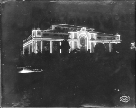 Alaska Building illuminated at night,  Alaska Yukon Pacific Exposiition, Seattle, Washington, 1909