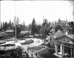 Sons of the American Revolution Flagpole in Dome Circle, Alaska Yukon Pacific Exposition, Seattle,...