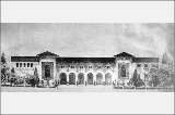 Architectural rendering of the California Building, Alaska-Yukon-Pacific Exposition, Seattle,...