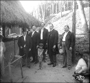 Dignitaries at the Igorrote Village, Alaska Yukon Pacific Exposition, Seattle, 1909.