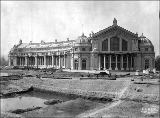 Agriculture Building and Cascades construction, Alaska-Yukon-Pacific Exposition, Seattle,...