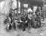 Nez Perce family in camp, Alaska Yukon Pacific Exposition, Seattle, 1909.