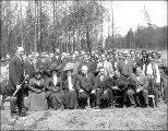 Eskimo Village ground breaking ceremony, Alaska-Yukon-Pacific Exposition, Seattle, Washington,...
