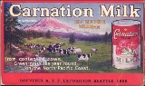 Advertisement for Carnation Milk, Alaska-Yukon-Pacific Exposition, 1909.