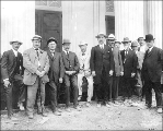 Governor George Chamberlain and the Oregon Delegation in front of the Oregon State Building,...