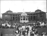 Forestry  Building with Nome Circle in foreground Alaska Yukon Pacific Exposition, Seattle,...