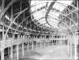 Agriculture Building construction showing interior framing, Alaska-Yukon-Pacific Exposition,...