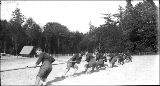 Coast artillery team during the military athletic tournament, Alaska-Yukon-Pacific Exposition,...