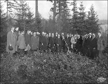 Hoo Hoo Building ground breaking ceremony,  Alaska Yukon Pacific Exposition, Seattle, Washington,...