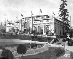 Hawaiian Building with Cascades in the foreground,  Alaska Yukon Pacific Exposition, Seattle,...