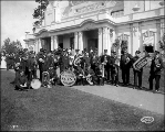 Kellys Band, Tacoma Day, Alaska Yukon Pacific Exposition, Seattle, July 16, 1909.