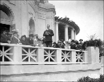 J.E. Chilberg, president of the Alaska-Yukon-Pacific Exposition, addressing exposition...