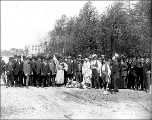 Ground breaking ceremony for the Oriental Village, Alaska-Yukon-Pacific Exposition, Seattle,...