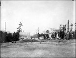 Panoramic view of grounds and buildings under construction, Alaska-Yukon-Pacific Exposition,...