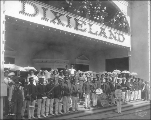 Dixieland Building with Lacy's Band, Pay Streak, Alaska Yukon Pacific Exposition, Seattle, 1909.