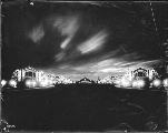 Court of Honor and buildings illuminated at night, Alaska Yukon Pacific Exposition, Seattle,...