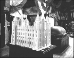 Model of Salt Lake City's Mormon Temple in the United States Government Building, Alaska Yukon...
