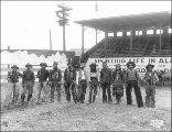Performers from Alkali Ike's Wild West show, Pay Streak, Alaska Yukon Pacific Exposition, Seattle,...