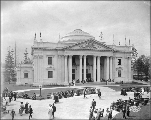 Oregon State Building and grounds with visitors, Alaska Yukon Pacific Exposition, Seattle, June...