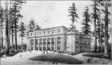 Architectural rendering of the Auditorium, Alaska Yukon Pacific Exposition, Seattle, 1909.