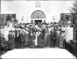 Washington State Pharmaceutical Society members outside the New York State Building , Alaska Yukon...