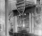 Canadian Pacific Railway exhibit in the Agriculture Building, Alaska-Yukon-Pacific Exposition,...