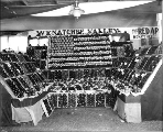 Wenatchee Valley apple exhibit, Agriculture Building, Alaska Yukon Pacific Exposiition, Seattle,...