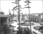 Nome Circle, Forestry Building, Bandstand, and Oregon Building, Alaska Yukon Pacific Exposition,...