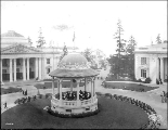 Nome Circle showing the Oregon Building, Alaska Yukon Pacific Exposition, Seattle, 1909.