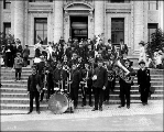 Millers Band, Tacoma Day, Alaska Yukon Pacific Exposition, Seattle, July 16, 1909.