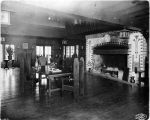Hoo Hoo House interior showing the dining area,  Alaska Yukon Pacific Exposition, Seattle,...