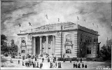Architectural rendering of the Washington State Building, Alaska-Yukon-Pacific Exposition,...