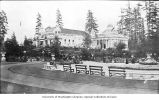 Grounds in front of Canadian and Grand Trunk Buildings, Alaska-Yukon-Pacific-Exposition, 1909