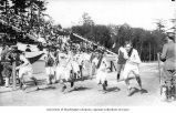 Start of the mile relay, Military Athletic Tournament, Alaska-Yukon-Pacific-Exposition, Seattle,...