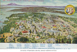 Bird's eye map of buildings and grounds, Alaska-Yukon-Pacific-Exposition, Seattle, Washington, 1909
