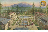 Aerial view of the Court of Honor looking toward Mt. Rainier, Alaska-Yukon-Pacific-Exposition,...