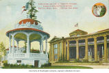 Band Stand with Forestry Building in background, Alaska-Yukon-Pacific-Exposition, Seattle,...
