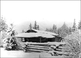 Sales homestead in winter, Parkland, Washington, ca. 1906