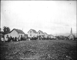 Chilliwack Indians gathering for Passion Play, Skwa village near Chilliwack, British Columbia, 1901