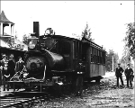 Train at Parkland Station, Washington, ca. 1908
