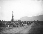 Chilliwack procession of women and children for Passion Play, Skwa village near Chilliwack,...