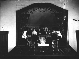 Interior of unidentified church showing the men and women of the church choir, Washington, ca. 1906
