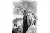 Crevasse in Stevens Glacier, Mount Rainier National Park, Washington, ca. 1913.