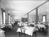 Dining room probably of the National Park Inn Annex at Longmire, Mount Rainier National Park,...