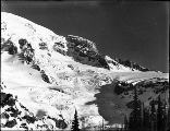 Southwest slope of Mount Rainier showing Gilbralter Rock, Washington, ca. 1910