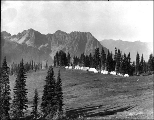 John Reese's tent hotel camp known as Camp of the Clouds below Alta Vista, upper Paradise Valley,...