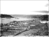 Columbia River, Mount Hood and Columbus Landing from Maryhill, Washington, ca. 1910