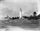 Grays Harbor Lighthouse and watertower, Washington,  ca. 1910