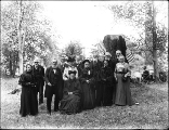 Elderly men and women posed for portrait, probably Washington state, ca. 1905